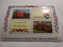 1993-bloc Feuillet N°15,émis Pour Le Salon Du Timbre(Rhododendrons-parc Floral De Paris) - Mint/Hinged