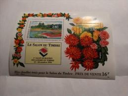 1994-bloc Feuillet N°16,émis Pour Le Salon Du Timbre(Dahlias-parc Floral De Paris) - Mint/Hinged