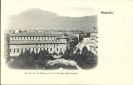 38 - GRENOBLE - Isère - Le Lycée De Garçons Et Le Square Des Postes - Grenoble