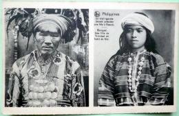 PHILIPPINES VIEIL IGOROTE  ET BENGUET   FILLE DE TRINIDAD EN HABIT DE FETE ETHNOLOGIE - Philippines