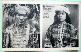 PHILIPPINES VIEIL IGOROTE  ET BENGUET   FILLE DE TRINIDAD EN HABIT DE FETE ETHNOLOGIE - Filipinas