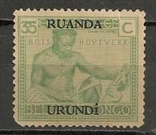 Timbres - Afrique - Ruanda-Urundi - 35 C. - (petite Déchirure) - Ruanda-Urundi