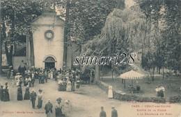 USSAT-LES-BAINS - N° 1429 - SORTIE DE LA MESSE A LA CHAPELLE DU PARC - Other Municipalities