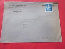Juridique Fiscal BARCELONA  Espagne Espana  Letter Lettre  > Mportateur Berne Suisse Helvetia Par Avion - 1931-Today: 2nd Rep - ... Juan Carlos I
