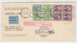 USA/Switzerland DEUTSCHER SCHLEUDERFLUG CATAPULT COVER 1933 - Luchtpost
