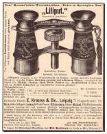 Original Werbung - 1888 - Liliput - Fernglas , E. Krauss & Cie In Leipzig , Optik , Fernstecher !! - Optik