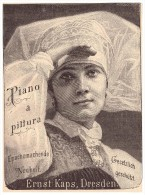 Original Werbung - 1888 - Ernst Kaps In Dresden , Piano A Pittura , Klavier , Flügel !! - Optik