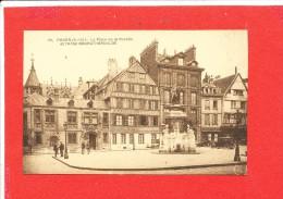 76 ROUEN Cpa Animée  Place De La Pucelle Et Hotel Bourgtheroulde        191 Raitre - Rouen