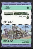 Bequia 1984 - Locomotiva, Treno, Locomotive, Train MNH ** - St.Vincent E Grenadine