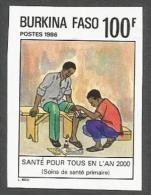 Burkina Faso 1986 First Aid Health EHBO Michel 1093 Unperforated Mint - Primeros Auxilios
