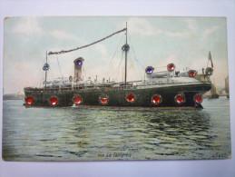 """PAQUEBOT  :  """" LA  CALIFORNIE """"   Jolie Carte Couleur  1908 - Steamers"""