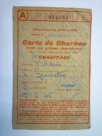 TICKET  De  RATIONNEMENT  :  CARTE  De  CHARBON   1946 Mairie De  MEUDON    - Vieux Papiers