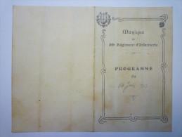 Musique Du  59è  Régiment D'Infanterie  :  Programme Du 14  Juin  1913 - Vieux Papiers