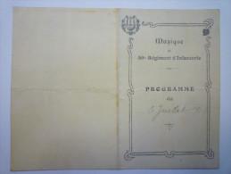 Musique Du  59è  Régiment D´Infanterie  :  Programme Du 6  Juillet   1913 - Vieux Papiers