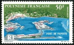 POLYNESIE 1966 - Yv. PA 20 * TB  Cote= 21,00 EUR - Port De Papeete ..Réf.POL21859 - Poste Aérienne