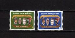 Papua New Guinea 1973 Michel 268-269 Self Government, Masks Set Of 2 MNH - Papouasie-Nouvelle-Guinée
