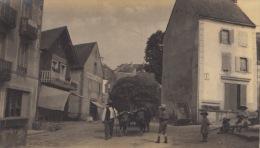 Photo Ancienne Puy De Dome La Tour D'auvergne Attelage La Place - Anciennes (Av. 1900)
