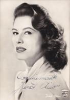 JANET  VIDOR  /  Attrice _ Cartolina Con Autografo - Cinema
