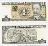 CUBA       1 Peso       P-121h       2008       UNC