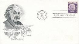 DC-0255 - FDC USA 1966 - ALBERT EINSTEIN NOBEL PRIZE - Nobel Prize Laureates