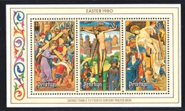 Penrhyn 1980 Easter Prayer Book Scenes Set + 4 Minisheets MNH - 3 Scans - Penrhyn