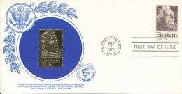DC-0256 - FDC GOLD STAMP REPLICA USA 1979 - ALBERT EINSTEIN NOBEL PRIZE - Nobel Prize Laureates