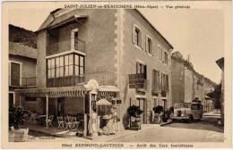 St-JULIEN-en-BEAUCHENE – Vue Générale - Hôtel Bermond-Gauthier – Arrêt Des Cars Touristiques (autobus, Pompe Essence) - France
