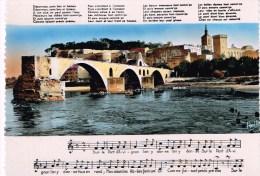 Carte Postale - Avignon - Le Pont Et Sa Chanson - Avignon (Palais & Pont)