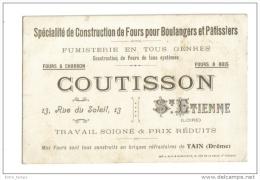 Coutisson  42 Saint Etienne Fours Boulangers Patissiers - Vieux Papiers