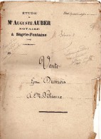 Acte De Vente De 1870,  DUMOIS De Ségrie Fontaine à SEBEAUX, 4 Pages, Maître AUBER - Manuscrits