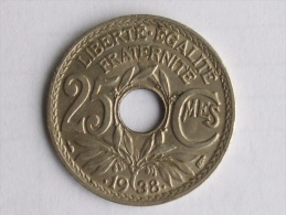 25 CENTIMES 1938 - - France