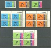 1972 CYPRUS OLYMPIC GAMES MUNICH BLOCK OF 4 & SET MICHEL: 377-379 MNH ** - Cyprus (Republiek)
