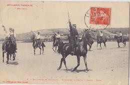 ARTILLERIE DE CAMPAGNE MANOEUVRE A CHEVAL SABRE  MAIN - Manovre