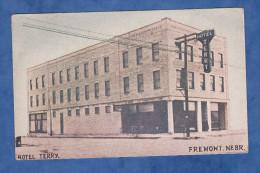 CPA - FREMONT - Hotel Terry - Cachet Au Verso A.R.C. Canteen Service Croix Rouge - Nebraska - Fremont
