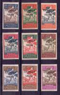 Wallis Et Futuna Taxe N°11 Au 17 Et 19 Et 23   Neufs Charniere  (9 Valeurs)  Pliure Sur Le N°17 - Timbres-taxe