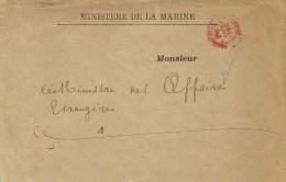 France 1894 Paris Ministere De La Marine Etablist. Des Invalides Cover - Marcofilie (Brieven)