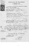 Certificat De Radiation De 1878, LECONTE De ROUVRON,  DESMONTS De Ségrie Fontaine, MENIL-HUBERT (61) - Manoscritti