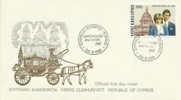 Cyprus 1981 Royal Wedding FDC - Unclassified