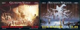 San Marino 2013 - Compositeurs, G.Verdi, R.Wagner - 2val Neuf // Mnh - San Marino