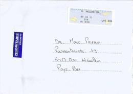 """France 2011 Pellevoisin Post Office Meter Franking EMA Olivetti """"PR2"""" Cover - 2000 «Avions En Papier»"""