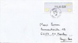 "France 2012 La Varenne Post Office Meter Franking EMA Olivetti ""PR2"" Cover - 2000 «Avions En Papier»"
