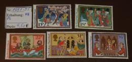 GB  Michel Nr:  1091 -95 Postfrisch ** MNH     #4324 - 1952-.... (Elizabeth II)