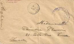 France 1915 Port Said Egypt Naval Unfranked Cover To UK - Poststempel (Briefe)