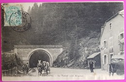 Cpa Bussang Le Tunnel Côté Alsacien Carte Postale Animée Attelage Vosges 88 - Col De Bussang