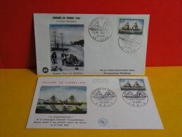 FDC- Journée Du Timbre, Le Washington Bateau Postal 1864 - Paris/Gien(45) - 27.3.1965 - 1er Jour, Cote 8 € Lot 2 FDC - 1960-1969