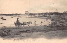 ¤¤  -   12  -    PREFAILLES   -   La Plage Du CORMIER   -  Voiture à Ane  -  Attelage  -  Pêcheuses De Crevettes  -  ¤¤ - Préfailles