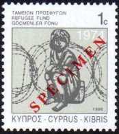 """Chypre 1996 Y&T 885. Surcharge """"Specimen"""" Pour La Presse Philatélique. Fonds D'aide Aux Réfugiés - Refugees"""