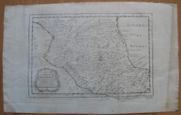 MAPPA CARTA GEOGRAFICA MESSICO AMERICA CENTRALE ANNO 1754 - Carte Geographique