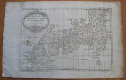 MAPPA CARTA GEOGRAFICA GIAPPONE JAPON ANNO 1752 - Carte Geographique