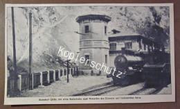 Original Zeitungsausschnitt Foto Eisenbahn Lok Bahnhof Issele Jahundertwende - Ferrovie